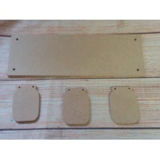 4mm Thick MDF Plaque with jam Jars